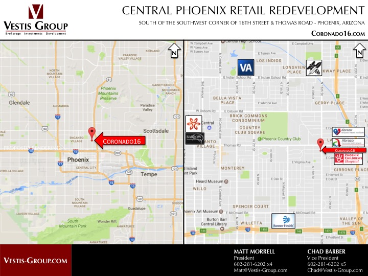 Coronado 16 | Retail Space For Lease In Phoenix AZ | Vestis Group