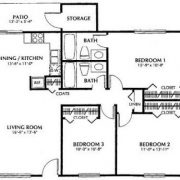 Three Bedroom Floorplan