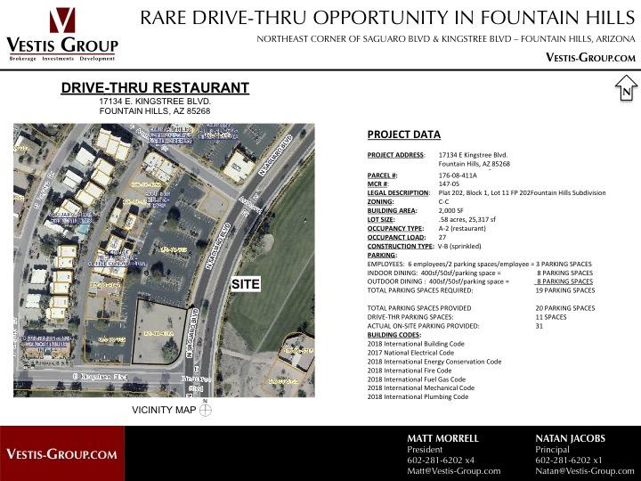 17134 E Kingstree Blvd, Fountain Hills, AZ 85268   Drive-Thru Retail Space